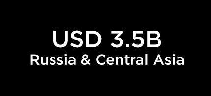 USD 3.5B Russia & Central Asia