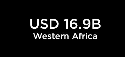 USD 16.9B Western Africa